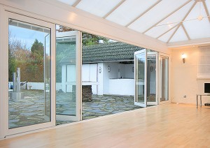 Cheap uPVC bi-fold doors
